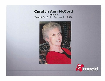 Carolyn Ann McCord slide
