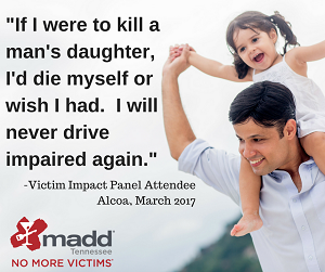 If I were to kill a man's daughter MADD VIP quote