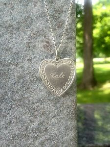 Cole's necklace on gravestone web version