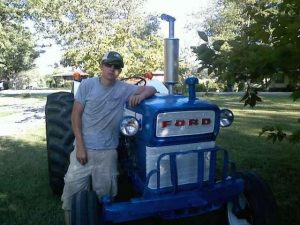 Tyler Head with tractor