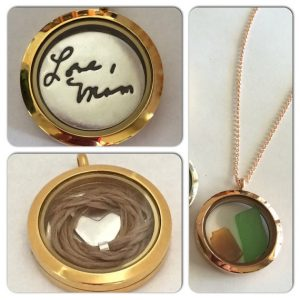 locket with handwriting