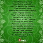 Mandy Larson Christmas poem 2017 on green 140x
