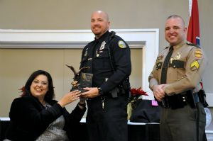 2017 East TN Top DUI Enforcer of the Year for Police Dept Officer Gary Frisbee