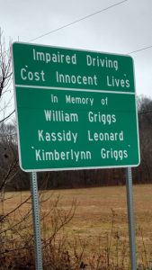 Griggs and Leonard Memorial Sign