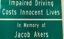 Jacob Akers Memorial Sign 300x250