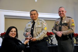 Shelby County Sheriff accepting for 2017 West TN Power of Youth Award