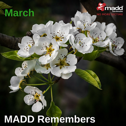 March MADD Remembers 2018 250x