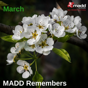March MADD Remembers 2018