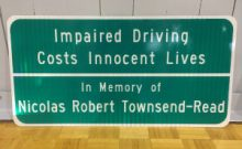 Nick Townsend memorial sign web version