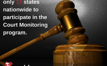 one of 13 states nationwide in Court Monitoring web version