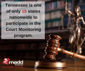 one of 15 states nationwide in Court Monitoring
