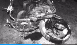 motorcycle from Brandon and Jennilyn crash
