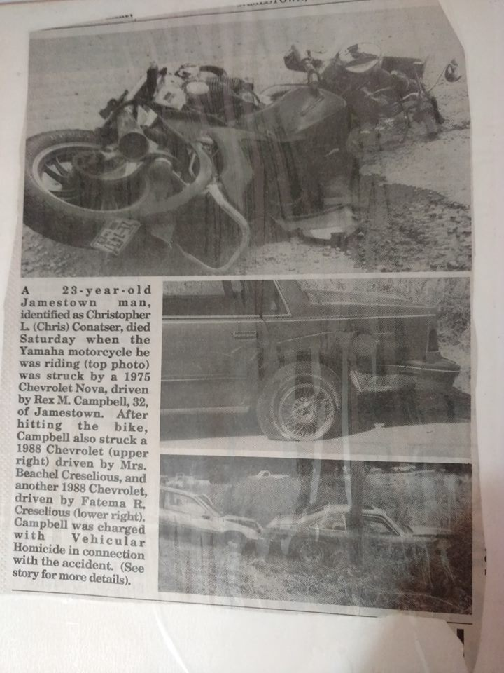 motorcycle newspaper photo