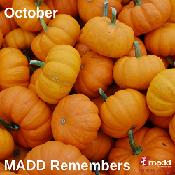 October 2018 MADD Remembers website