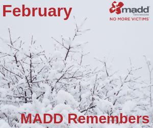 February 2019 MADD Remembers