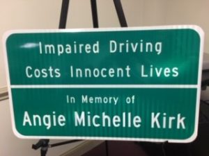 Angie Michelle Kirk sign
