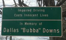 Dallas Downs Memorial Sign web version