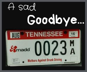 A sad goodbye to license plate