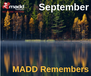September 2019 MADD Remembers