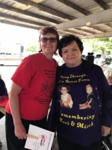 Carol Akers and Millie Webb at 2019 Middle TN Walk