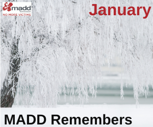 January 2020 MADD Remembers