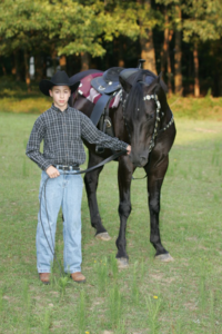 Dylan with horse