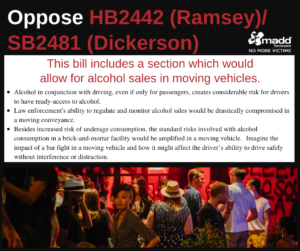 oppose HB2442 SB2481 2020 session re moving vehicles