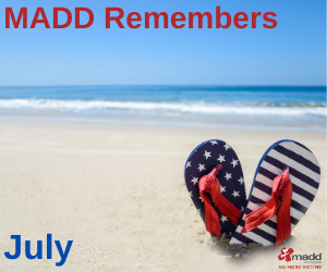 July 2020 MADD Remembers