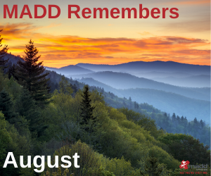 August 2020 MADD Remembers
