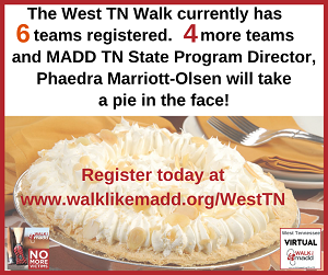 6 teams West TN Walk pie graphic web version