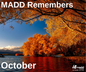 October 2020 MADD Remembers