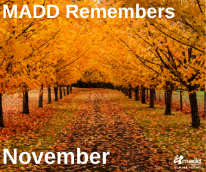 November 2020 MADD Remembers
