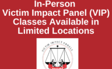 2021 MADD TN In-Person Victim Impact Panel Classes Currently Limited