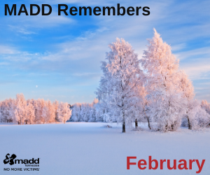 February 2021 MADD Remembers 300x250