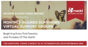 National Monthly Injured Survivors Support Groups