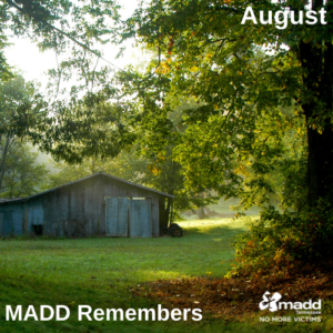 August 2021 MADD Remembers FB post version