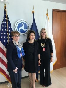 MADD President Colleen Sheehey-Church with DOT Secretary Elaine Chao and MADD CEO Debbie Weir