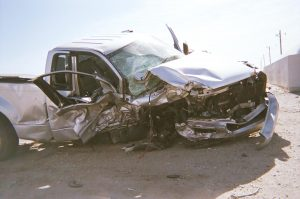 Janakae's vehicle after the crash
