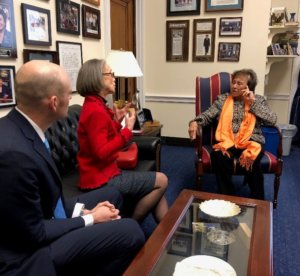 MADD National President Helen Witty meets with federal lawmakers on Capitol Hill about drunk driving prevention technology.
