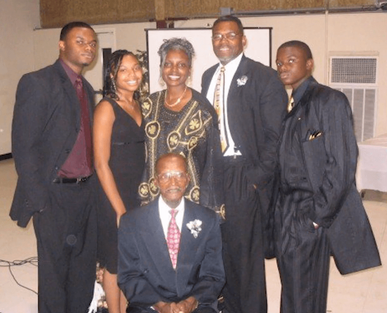 The Patrick family before John Michael, far left, was killed by a drunk driver in 2007.