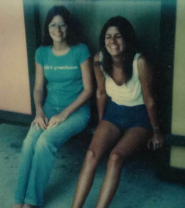 Sisters Peggy and Terri. When Terri was killed by a drunk driver, Peggy stepped in to raise her son.